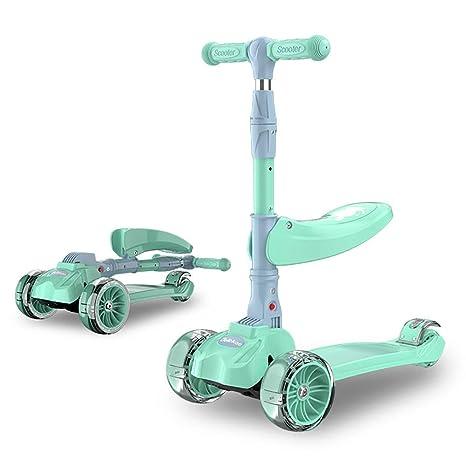 ETTBC Scooters - Patada de 4 Ruedas para niños con Asiento ...