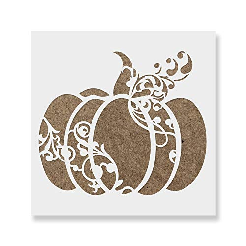 Pumpkin Decorative Stencil Template for Walls and Crafts - Reusable Stencils for Painting in Small & Large Sizes