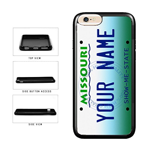 BleuReign(TM) Personalized Custom Name Missouri State License Plate TPU Rubber Silicone Phone Case Back Cover for Apple iPhone 8 Plus and iPhone 7 Plus (Iphone 7 Plus St Louis Cardinals Case)
