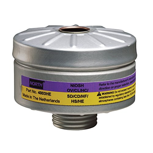Honeywell 4003HE North+ Organic Vapor/Acid Gas Cartridge for Use with Compact Air PAPR with HEPA Filter