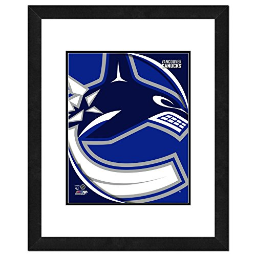 NHL Vancouver Canucks Team Logo Double Matted & Framed Photo, 22.5