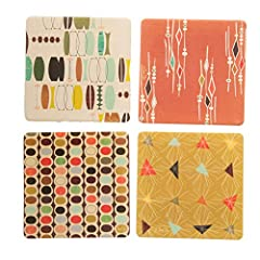 CoasterStone art is truly absorbing! We are the creators of the first absorbent Coasters. We use a beautiful bone colored stone that is cork backed to prevent sliding and damage to furniture then packaged carefully in a printed box. Our uniqu...