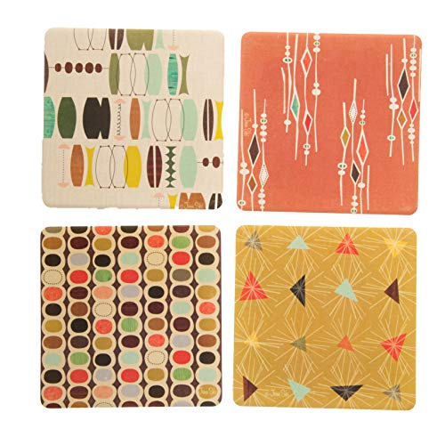 CoasterStone AS9943 Absorbent Coasters, 4-1/4-Inch,