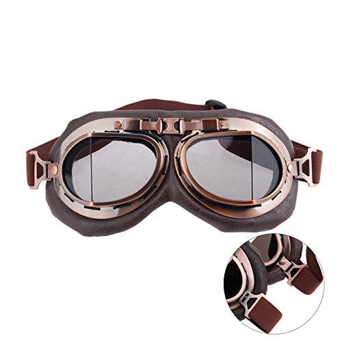 tage Goggles Sunglasses Eyewear for Outdoor Sports Motocross Racer - Brown Len ()