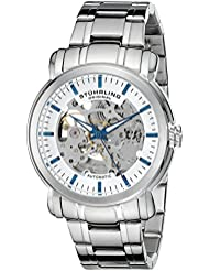 Stuhrling Original Mens 387.33112 Delphi Automatic Skeleton Stainless Steel Watch