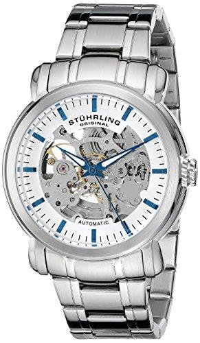 Delphi Mens Skeleton - Stuhrling Original Men's 387.33112 Delphi Automatic Skeleton Stainless Steel Watch