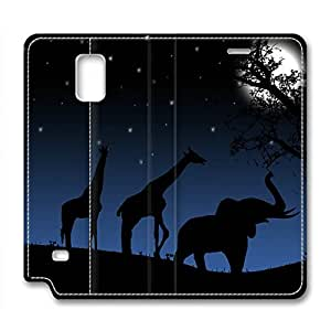 Animals Back Home DIY Leather Samsung Galaxy Note 4 Case Perfect By Custom Service