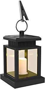 LEAGY LED Solar Mission Lantern, Vintage Solar Powered Waterproof Hanging Umbrella Lantern Candle Lights Led with Clamp Beach Umbrella Tree Pavilion Garden Yard Lawn Etc. Lighting & Decoration