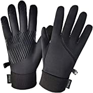 Winter Gloves for Men and Women, Touch Screen Gloves Light Anti-Slip for Goalie,Cycling,Running,Driving,Dog Wa