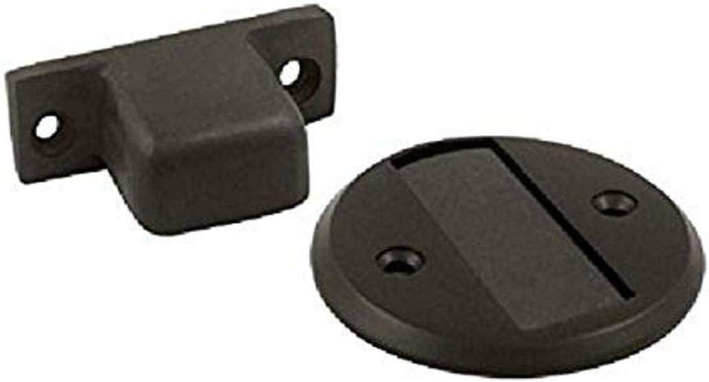 Deltana MDHF25BP10B 2.5-Inch Diameter Blister Pack Magnetic Door Holder Flush