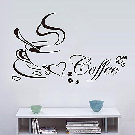Strongcloud Glatte Oberflache Entfernen Selbstklebend Tapete Kaffee Wandtattoo Amazon De Kuche Haushalt