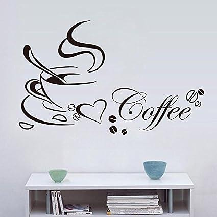 Zhuotop Küche Kaffee Wandtattoos Wandaufkleber kaffee Wandsticker