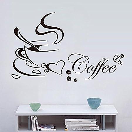 Zhuotop Küche Kaffee Wandtattoos Wandaufkleber kaffee Wandsticker ...