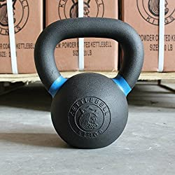 Kettlebell Kings | Cast Iron Kettlebell | Designed for Home Workouts, Swings & Strength Training (25 LB)