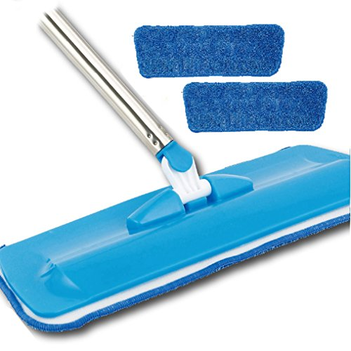 Sport Beats Microfiber Floor Mop 46 in High 16 in wide, Dry or Wet Mop for Home, Office,Schools, Hospitals, Floor, Walls, 2 Free Microfiber refill Pads included