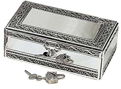 Amazoncom Elegance Silver Antique Silver Jewelry Box With Jeweled