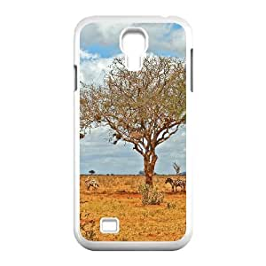 Case For Samsung Galaxy S4, zebras in the shade Case For Samsung Galaxy S4, White