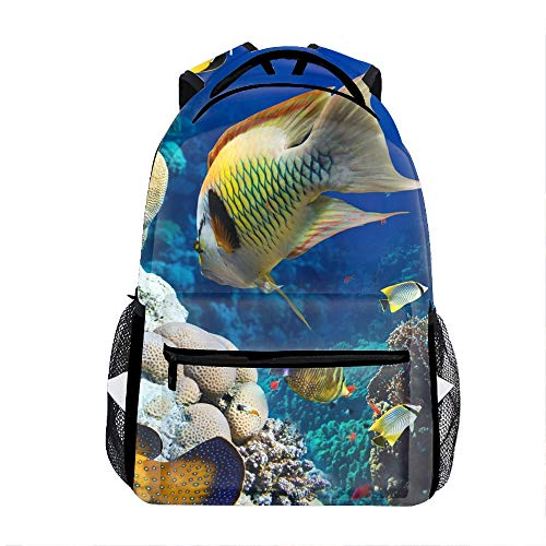 3D Tropical Fish School Backpacks Travel Bags for Teen Girls Boys]()