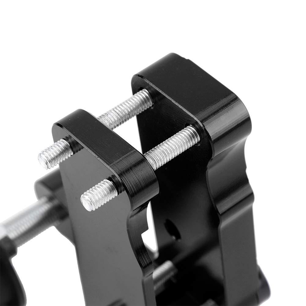 Qiilu Ajustador de motocicleta Rodillo tensor de cadena CNC Herramienta universal de aleaci/ón de aluminio negro