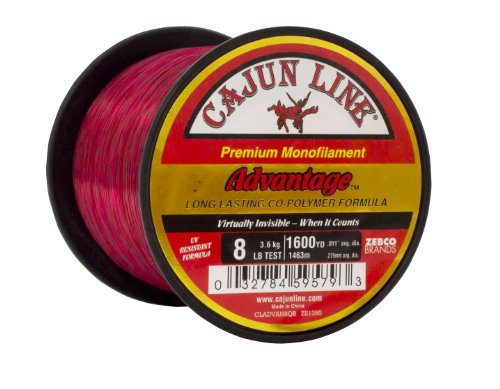 Cajun Line Red Advantage 1/4-Pound Spool with Test Fishing Line (8-Pound)