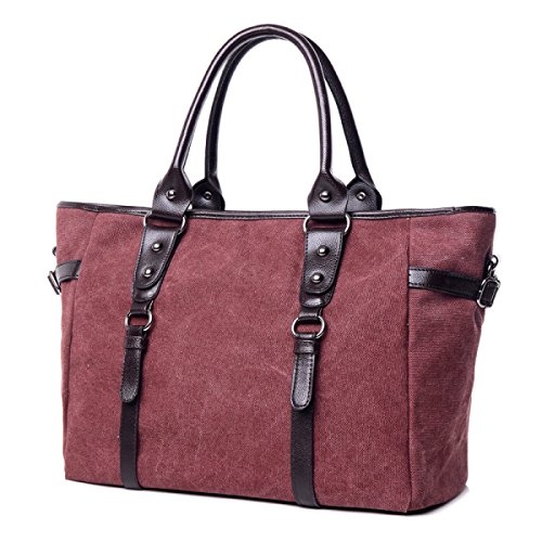Frauen Jahrgang Leinwand Schulter Aktentasche Messenger Handtasche Schule Reisen Tasche ,A-OneSize