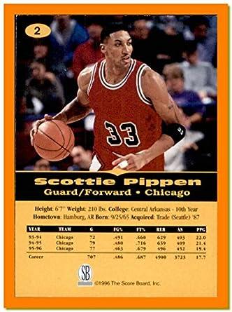 promo code ef5e4 7ef53 1996-97 Score Board All Sport PPF #2 Scottie Pippen CHICAGO ...