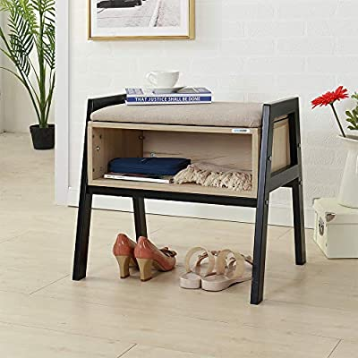 "SHUHOME Shoe Bench Boot Organizing Upholstered Shoe Rack Entryway Storage(White Maple) - This storage bench size:Overall size of shoes cabinet: L 21.3""*W16.5""H*19.7"". Inner holder: 19.7""L*9.8""W*7.1""H; comfortable height for sitting & resting your feet or legs Sturdy & comfy for sitting- Thickened laminated wood construction holds up to 200Lbs (static load capacity), sponge padded seat, sturdy & cozy bench for sitting. Hidden storage space - Spacious hidden storage room for sundries including shoes, blankets, de-cluttering your entryway & bedroom - entryway-furniture-decor, entryway-laundry-room, benches - 5109z2FXhhL. SS400  -"