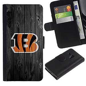 Ihec-Tech / Flip PU Cuero Cover Case para Samsung Galaxy S3 MINI NOT REGULAR! I8190 I8190N - Cincinnati Bengal Football