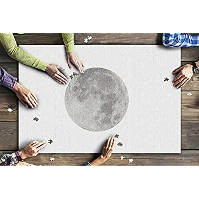 Full Moon on White Background 9020016 (Premium 1000 Piece Jigsaw Puzzle for Adults, 20x30, Made in USA!): Toys & Games