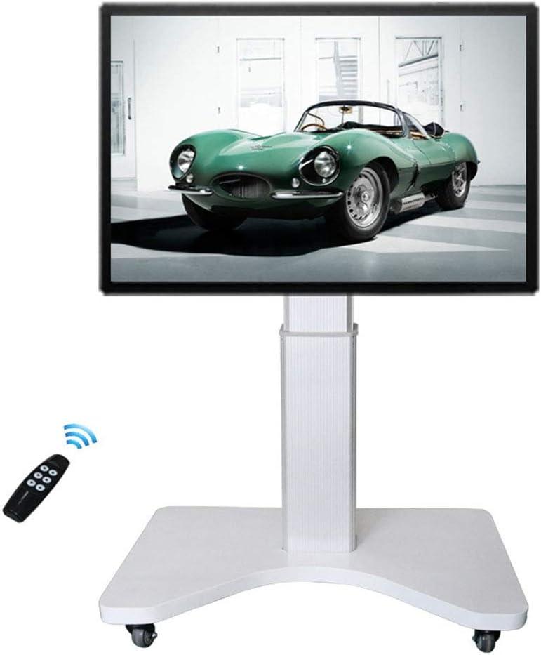 ローリングテレビスタンドモバイル Tv カート、46-65 インチ電気リモートコントロールの高さ調整フリップディスプレイ90°ホームオフィスベッドルーム教室会議室ビデオ通話