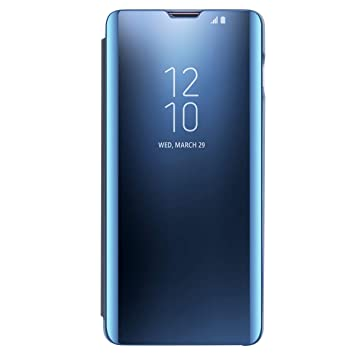 AICase Funda para Samsung Galaxy S10 Plus,Samsung Clear View Cover Flip Cover Carcasa,Soporte Plegable,Case de Teléfono para Samsung Galaxy S8 Plus ...