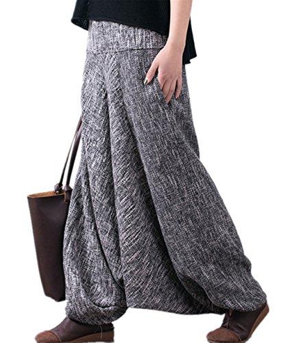 Linen Striped Drawstring Pants - 8