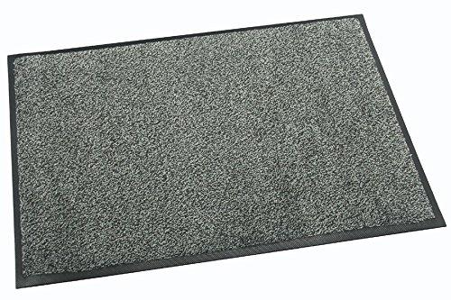 Premium   Profi Schmutzfangmatte ca. 85 x 150 cm, Grau, für Industrie & Gewerbe, bis 60°C maschönenwaschbar, schwer entflammbar B1, antistatisch