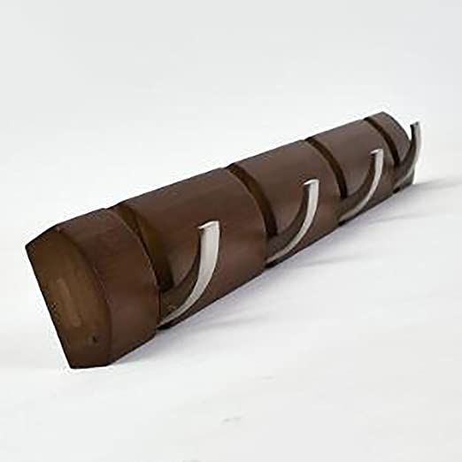 LIZIYMJ Perchero Madera Maciza de bambú marrón Europea ...
