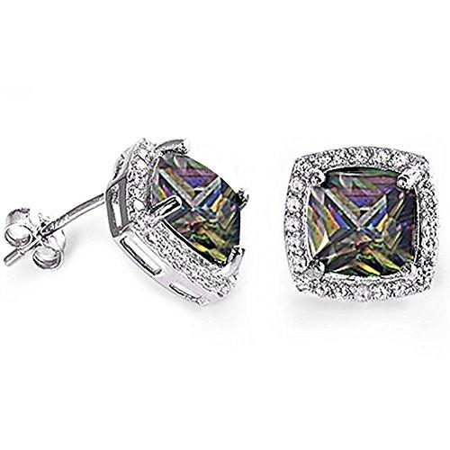 oval imperial topaz stud earrings - 6