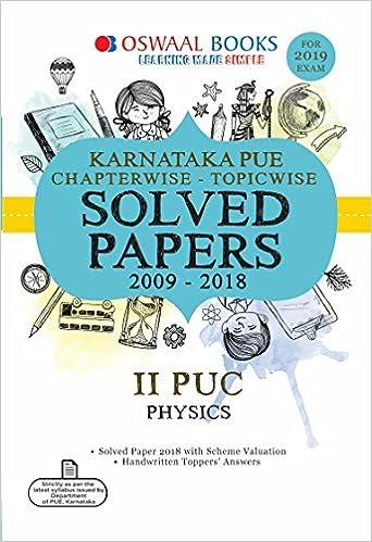 Oswaal Karnataka PUE Solved Papers II PUC Physics