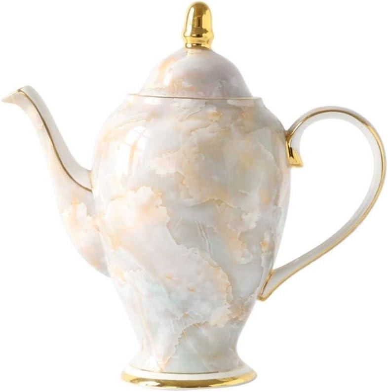 Bone China tetera de porcelana Cafetera Con Phem Penh hueso, cerámica europea pote del té de la caldera doméstica, patrimonio cultural inmaterial (Color : B)