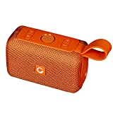 DOSS E-go Portable Bluetooth Speaker with Loud Volume, Increased Bass, IPX6 Waterproof, Built-in Mic. Perfect Wireless Speaker for Phone, Tablet, TV, and More(Orange)
