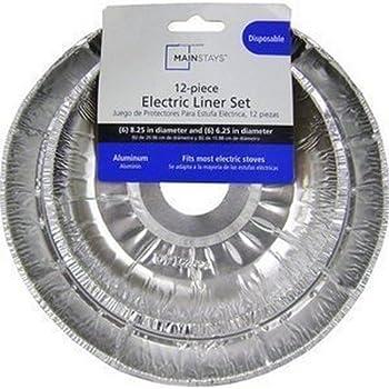 Amazon Com Hefty Ez Foil Large Aluminum 6 Burner Liners