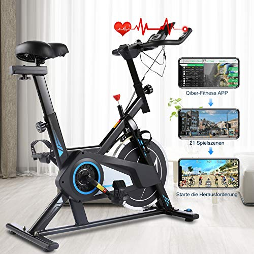 🥇 Ancheer Bicicleta Estática de Spinning Bicicleta Fitness Volante Inercia