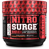 Best Pre Workout Supplements - NITROSURGE SHRED Pre Workout Fat Burner Supplement Review