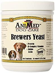 AniMed Pure Brewer\'s Yeast Powder for Dogs, 16-Ounce