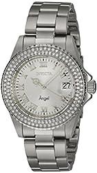 Invicta Women's 20213 Angel Quartz 3 Hand Silver Dial Watch