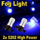 2 PCS Ultra Blue H16 High Power SMD LED Headlight Bulbs F...