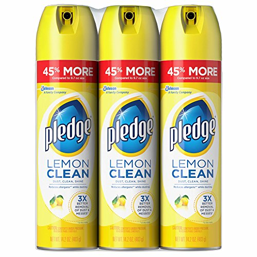 Pledge Lemon Clean Furniture Spray 13.8 Oz (Pack of 3)