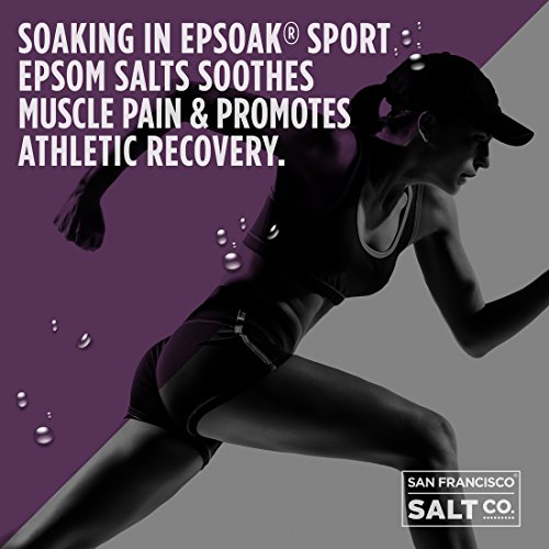 Epsoak SPORT Epsom Salt for Athletes  5 lbs SOOTHING Therapeutic Soak with Lavender Essential Oil