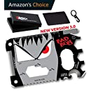 NEW ARRIVAL 23 IN 1 Bad Boy Credit Card Multitool Gift Set - Best Looking EDC Wallet Tool on the Market with Cool Gadgets for Men