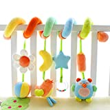 SHILOH Kid Activity Spiral Wrap Around Crib Bed Bassinet Stroller Rail Toy Developmental Plush Soft Toys