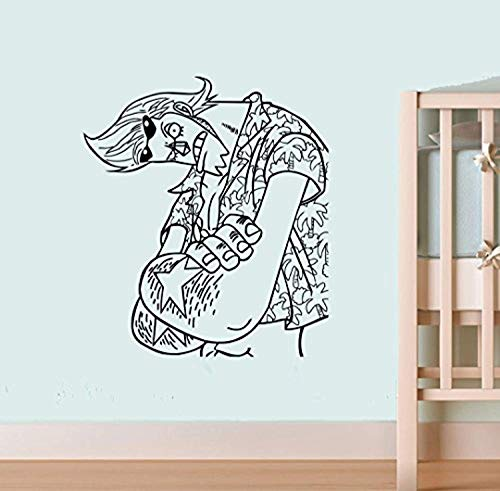 One Piece Wall Vinyl Decal Top Anime WallCSranky Vinyl Sticker Decor for Home Bedroom Design SC4(22x25)