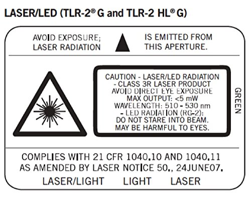 080926692657 - Streamlight 69265 TLR-2 High Lumen G Rail Mounted Flashlight 800 Lumens with Green Laser, Black carousel main 1